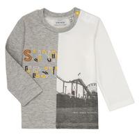vaatteet Pojat T-paidat pitkillä hihoilla Ikks MAELINO Grey