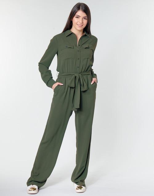 vaatteet Naiset Jumpsuits / Haalarit MICHAEL Michael Kors ROLL SLV SAFARI JMPST Kaki