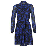 vaatteet Naiset Lyhyt mekko MICHAEL Michael Kors BOLD BENGAL TIER DRS Blue / Black