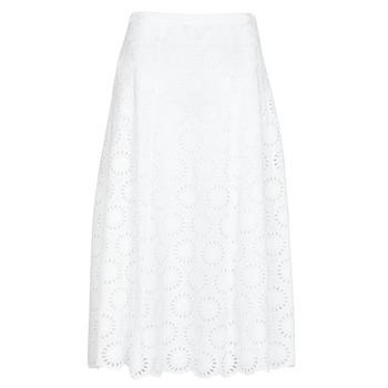 vaatteet Naiset Hame MICHAEL Michael Kors FLORAL EYLT LNG SKIRT White