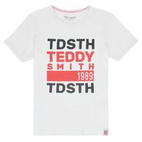 vaatteet Pojat Lyhythihainen t-paita Teddy Smith DUSTIN White