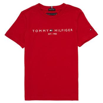vaatteet Pojat Lyhythihainen t-paita Tommy Hilfiger  Red