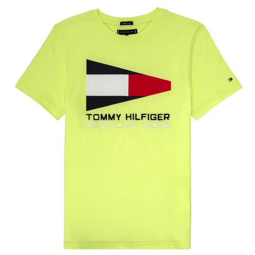 vaatteet Pojat Lyhythihainen t-paita Tommy Hilfiger KB0KB05628 Yellow