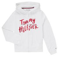 vaatteet Tytöt Svetari Tommy Hilfiger KG0KG05043 Valkoinen