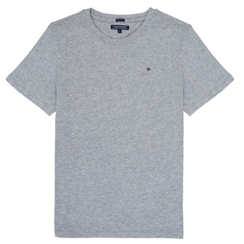 vaatteet Pojat Lyhythihainen t-paita Tommy Hilfiger KB0KB04140 Harmaa