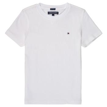 vaatteet Pojat Lyhythihainen t-paita Tommy Hilfiger KB0KB04140 White