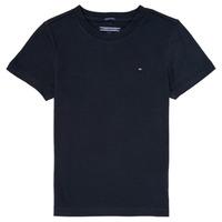vaatteet Pojat Lyhythihainen t-paita Tommy Hilfiger  Laivastonsininen