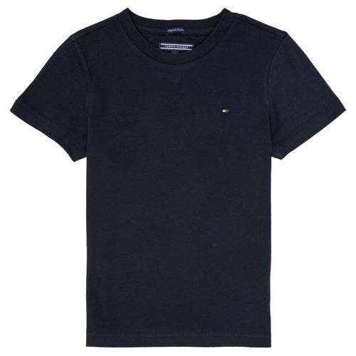 vaatteet Pojat Lyhythihainen t-paita Tommy Hilfiger KB0KB04140 Laivastonsininen