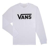 vaatteet Pojat T-paidat pitkillä hihoilla Vans BY VANS CLASSIC LS White