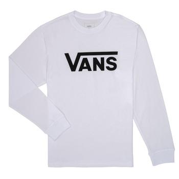 vaatteet Lapset T-paidat pitkillä hihoilla Vans BY VANS CLASSIC LS Valkoinen