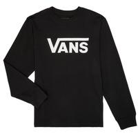 vaatteet Pojat T-paidat pitkillä hihoilla Vans BY VANS CLASSIC LS Black