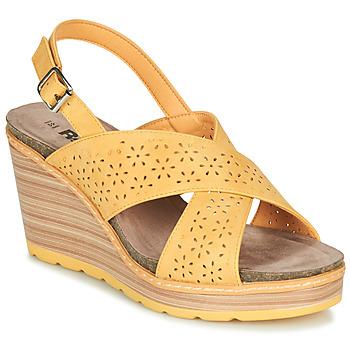 kengät Naiset Sandaalit ja avokkaat Refresh RILO Yellow