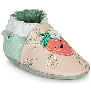 kengät Tytöt Tossut Robeez FRUIT'S PARTY Vaaleanpunainen / Vihreä