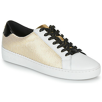 kengät Naiset Matalavartiset tennarit MICHAEL Michael Kors IRVING LACE UP White / Black / Kulta