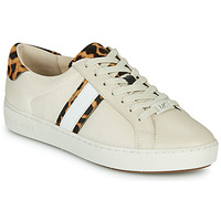 kengät Naiset Matalavartiset tennarit MICHAEL Michael Kors IRVING STRIPE LACE UP Ecru / Leopardi