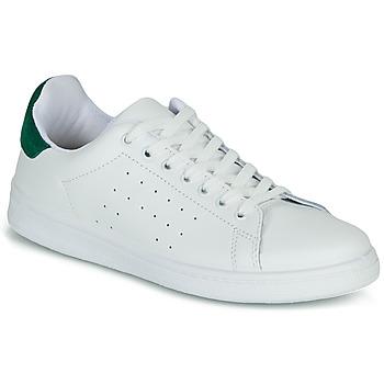 kengät Naiset Matalavartiset tennarit Yurban SATURNA Valkoinen / Vihreä