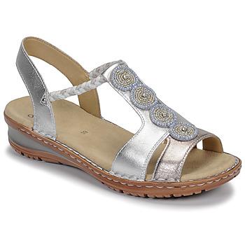 kengät Naiset Sandaalit ja avokkaat Ara HAWAII Valkoinen / Hopea