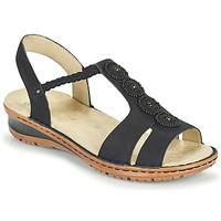 kengät Naiset Sandaalit ja avokkaat Ara HAWAII Musta