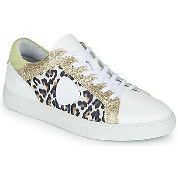 kengät Naiset Matalavartiset tennarit Philippe Morvan FURRY Valkoinen / Leopardi / Glitter