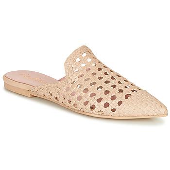 kengät Naiset Sandaalit Pretty Ballerinas COTON ROSATO Beige