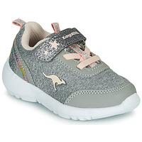 kengät Tytöt Matalavartiset tennarit Kangaroos KY-Citylite EV Grey / Pink