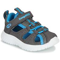 kengät Pojat Sandaalit ja avokkaat Kangaroos KI-ROCK LITE EV Harmaa / Sininen
