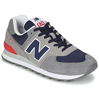 kengät Miehet Matalavartiset tennarit New Balance 574 Grey / Blue / Red