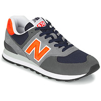 kengät Miehet Matalavartiset tennarit New Balance 574 Grey / Orange