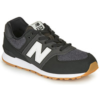 kengät Pojat Matalavartiset tennarit New Balance 574 Black / Grey