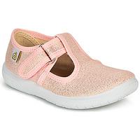 kengät Tytöt Balleriinat Citrouille et Compagnie MATITO Pink / Metallinen