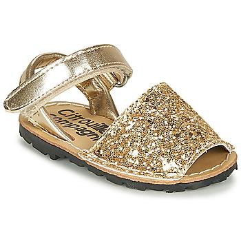 kengät Tytöt Sandaalit ja avokkaat Citrouille et Compagnie SQUOUBEL Kulta