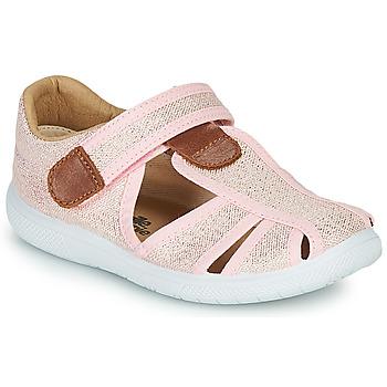 kengät Tytöt Sandaalit ja avokkaat Citrouille et Compagnie GUNCAL Vaaleanpunainen / Metallinen