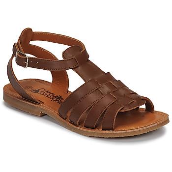 kengät Tytöt Sandaalit ja avokkaat Citrouille et Compagnie MINIBOU Brown