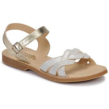 kengät Tytöt Sandaalit ja avokkaat Citrouille et Compagnie MADELLE Hopea