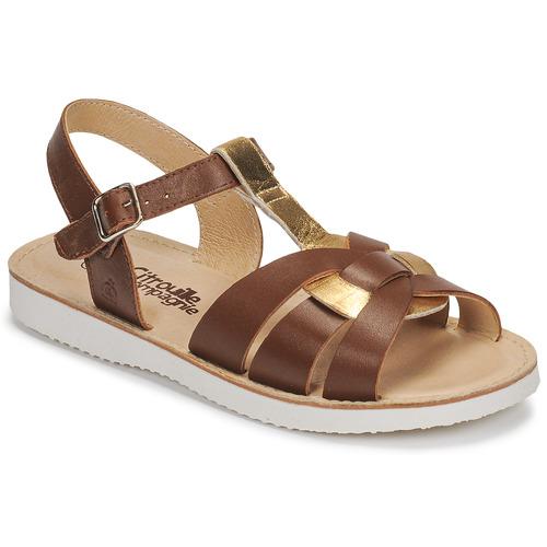kengät Tytöt Sandaalit ja avokkaat Citrouille et Compagnie MINOTTE Brown / Kulta