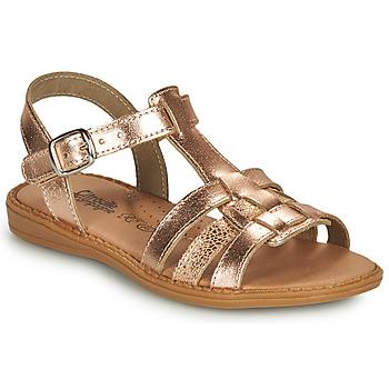 kengät Tytöt Sandaalit ja avokkaat Citrouille et Compagnie ROLUI Pronssi