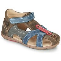 kengät Pojat Sandaalit ja avokkaat Citrouille et Compagnie MARIOL Grey / Blue