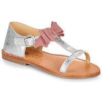 kengät Tytöt Sandaalit ja avokkaat Citrouille et Compagnie MELINDA Hopea