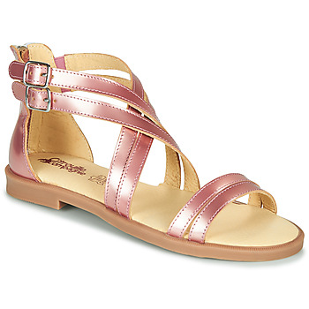 kengät Tytöt Sandaalit ja avokkaat Citrouille et Compagnie IMOURAT Pink / Kulta