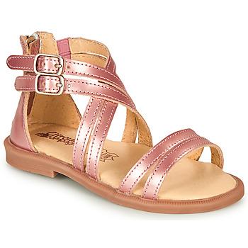 kengät Tytöt Sandaalit ja avokkaat Citrouille et Compagnie IMOURAT Vaaleanpunainen / Kulta