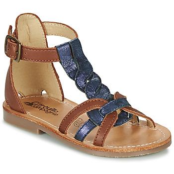 kengät Tytöt Sandaalit ja avokkaat Citrouille et Compagnie GITANOLO Laivastonsininen / Camel
