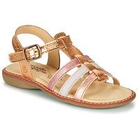 kengät Tytöt Sandaalit ja avokkaat Citrouille et Compagnie GROUFLA Kulta / Metalli / Pink
