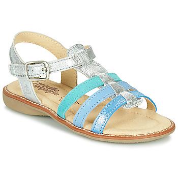 kengät Tytöt Sandaalit ja avokkaat Citrouille et Compagnie GROUFLA Hopea / Sininen / Veden vihreä