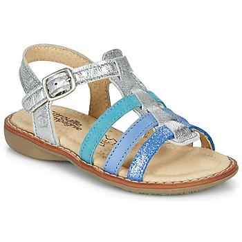 kengät Tytöt Sandaalit ja avokkaat Citrouille et Compagnie GROUFLA Hopea / Blue / Veden vihreä