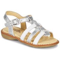 kengät Tytöt Sandaalit ja avokkaat Citrouille et Compagnie GROUFLA Hopea / White