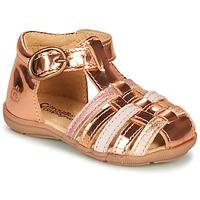 kengät Tytöt Sandaalit ja avokkaat Citrouille et Compagnie RINE Pink / Metallinen