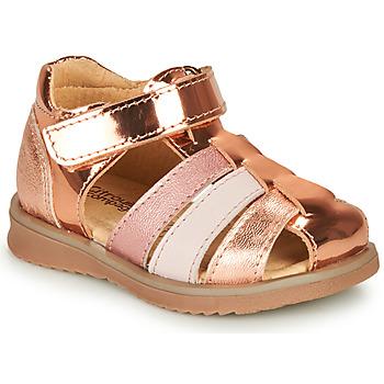 kengät Tytöt Sandaalit ja avokkaat Citrouille et Compagnie FRINOUI Bronze / Pink