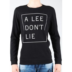vaatteet Miehet T-paidat pitkillä hihoilla Lee Don`t Lie Tee LS L65VEQ01 black, white