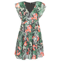 vaatteet Naiset Lyhyt mekko Guess EULALIA DRESS Black / Green