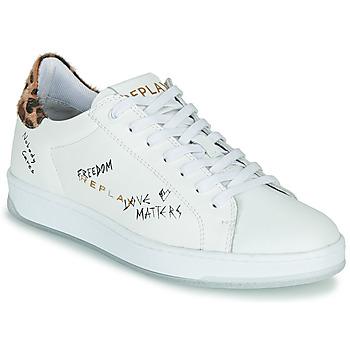 kengät Naiset Matalavartiset tennarit Replay MELANIA White